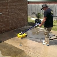 Jason's pressure cleaning.