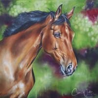 The Trotting Trestle, Equine art by Clea Witte