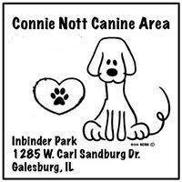 Connie Nott Canine Area - Dog Park: Galesburg, Illinois