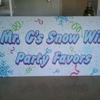 Mr. G's Snow Wiz and Party Favors