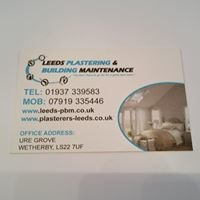 Leeds plastering and building maintenance