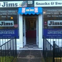 Jim's Snacks & Sweets Est. Oct 2000.