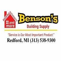 Benson's Building Supply