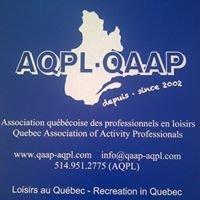 Association québécoise des professionnels en loisirs AQPL-QAAP