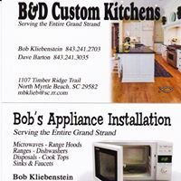 "B&D Custom Kitchens ""Serving the Entire Grand Strand"""