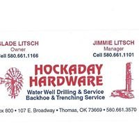 Hockaday Hardware Water Well Drilling Service and Construction