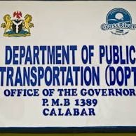 Department of Public Transportation DOPT, Governor's Office, Calabar