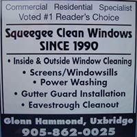 Squeegee Clean Windows