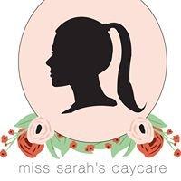 Miss. Sarah's Daycare