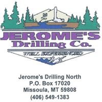 Well Drilling by Jerome's Water Well Drilling Service of Western Montana