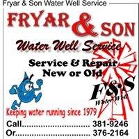Fryar & Son Water Well Service