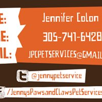 Jenny's Paws & Claws Pet Services