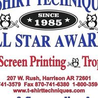 T-Shirt Techniques & All Star Awards