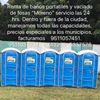 """Baños portátiles y vaciado de fosas """"Moreno"""""""