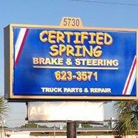 Certified Spring, Brake & Steering, Inc.