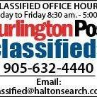 Burlington Post Classifieds
