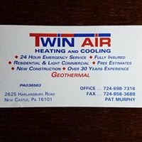 Twin Air Heating and Cooling