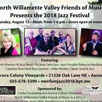 North Willamette Valley Friends of Music Annual Jazz Festival