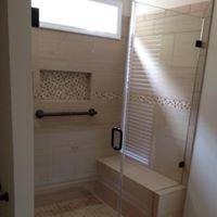 PB Glass Shower Door & Mirror
