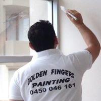 Golden fingers painting