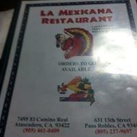 La Mexicana Restaurant de Paso Robles.