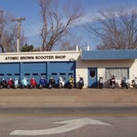 Atomic Brown Scooter Shop