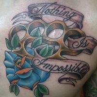 Painted Saint Tattoo