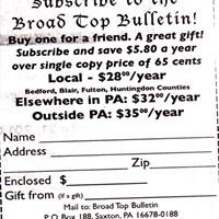 Broad Top Bulletin