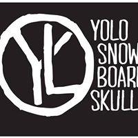 Yolo Snowboard Skull
