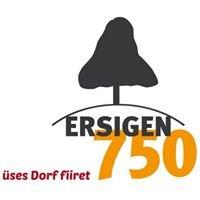 750 Jahre Ersigen - Rodelbahn & Dorffest