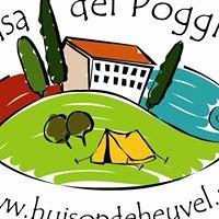 Huisopdeheuvel kleine camping huurtent appartement Le Marche Italië