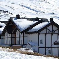 Estación de Esquí Sierra Nevada zona alta. Granada (Spain)