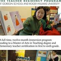 Teacher Residency Program at Gordon School and Roger Williams University