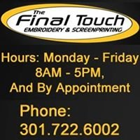 The Final Touch Embroidery & Screenprinting , Sports Equipment & Uniforms