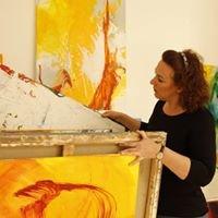 Anja Stemmer - informelle Malerei - Atelier und Verkauf von Kunstwerken