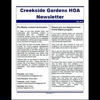Creekside Gardens HOA