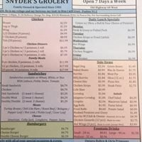 Snyder's Chicken and Catering