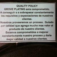 Grove Plating Company Incorporated
