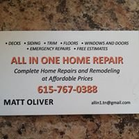 All in One Home Repair and Remodeling