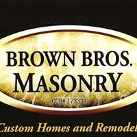 Brown Bros. Masonry