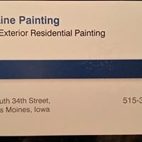 Blue Line Painting