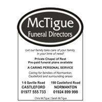 McTigue Funeral Directors Castleford & Normanton