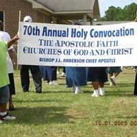 Apostolic Faith Churches of God and Christ, Windsor NC