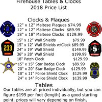 Firehouse Tables & Clocks