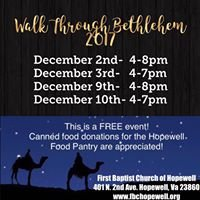 Walk Through Bethlehem at FBC Hopewell