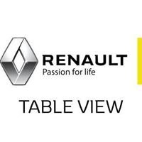 Renault Table View