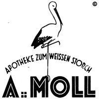 """A. Moll Apotheke """"zum weißen Storch"""""""