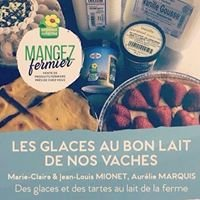 """Ferme Mionet/Marquis """"Glaces au bon lait de nos vaches"""""""