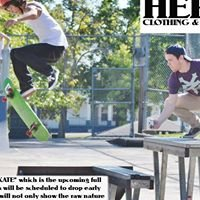 Hero's clothing and skateboards