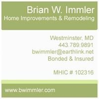 Brian W. Immler Home Improvements and Remodeling